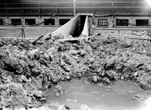 Roker Park Bomb Damage 1943