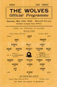 W - War Cup Final Programme 1942