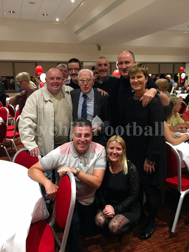 George Forster, centre of picture at his recent 90th surprise birthday celebration.