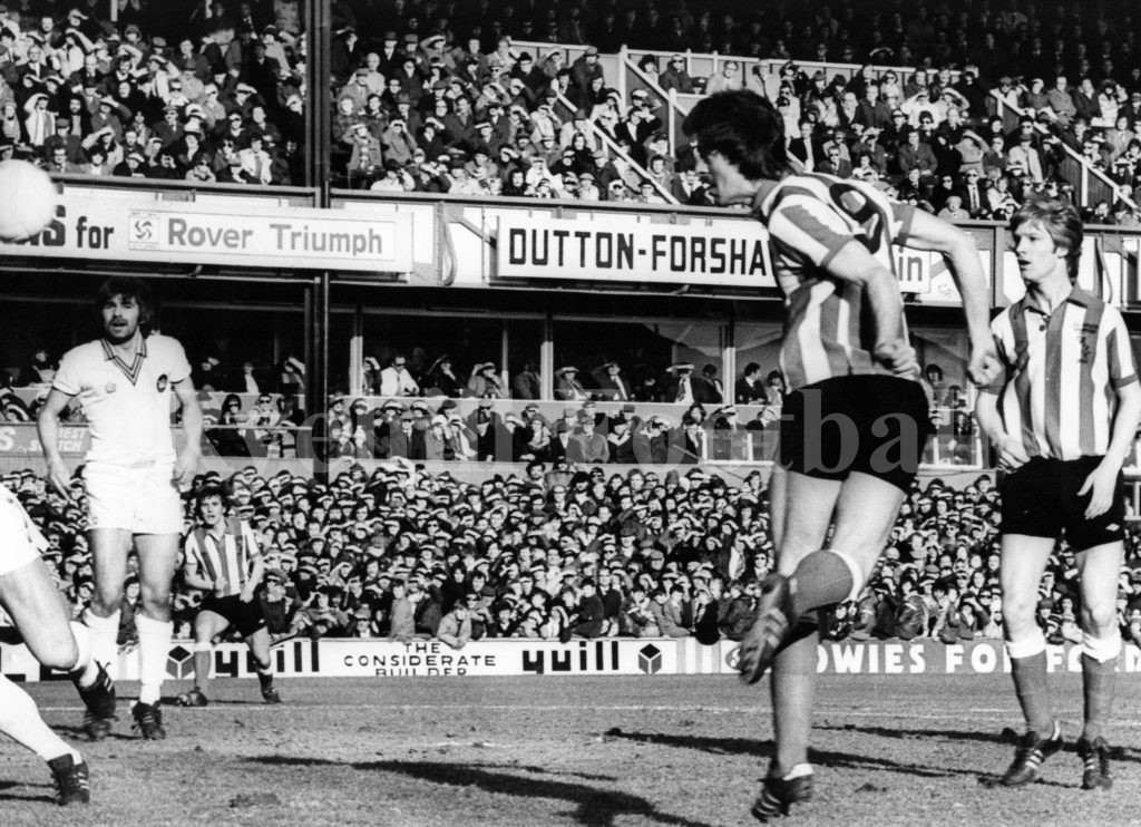 Mel Rules The Sky; Mel Holden (RIP) scores in the 6 v 0 rout of West Ham at Roker Park