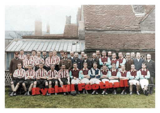 Sunderland v Aston Villa, Newcastle Road 1893/94 - Tom Watson in the centre of the image wearing the cap