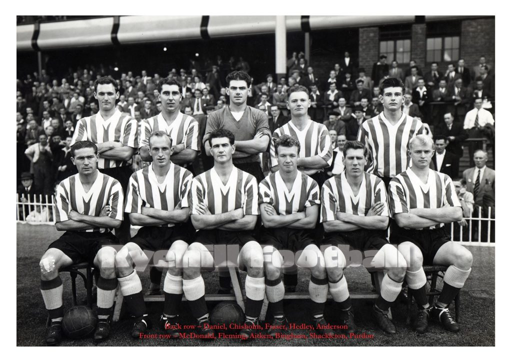 Sunderland AFC team have their photo taken prior to the thrashing of Villa.